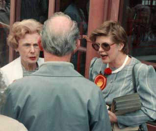 Campaigning with Barbara Castle 1989