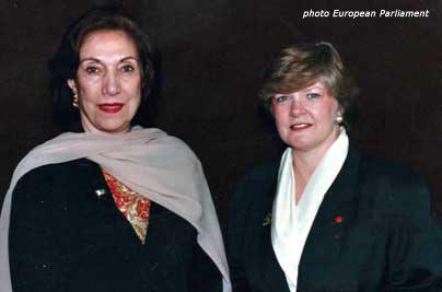 Anita with Begum Bhutto